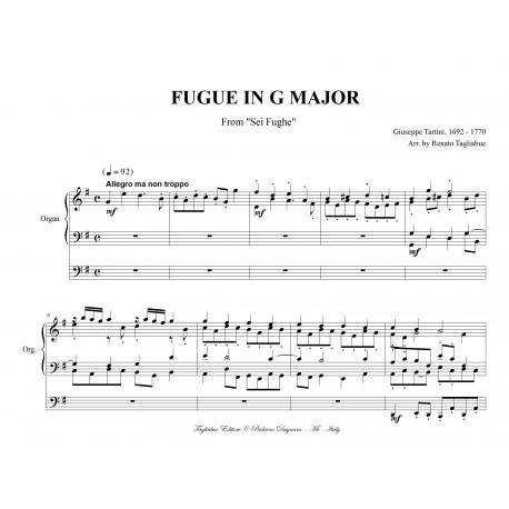 FUGUE IN G MAJOR - G.Tartini - Arr. for Organ 3 staff