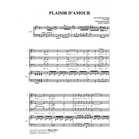PLAISIR D'AMOUR - Arr. for SAB Choir and Piano