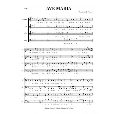 AVE MARIA - De Victoria per SATB Choir